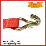 """A cinta da catraca da carga/a chicotada com com fio engancha 4 de """" o verde X 40 '"""