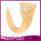Europeo Hair Lightest Blond White Clip di 100% in Hair Extension per White Women