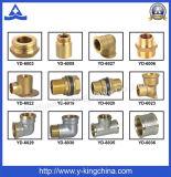 Válvula de ángulo de cobre amarillo Polished del Y-Rey alta calidad (YD-5026)