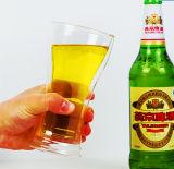 Taza de cristal 350ml de la cerveza de la pared del doble del diseño de la manera