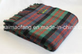 編まれたPlaid Mixed 50%Wool&50%Acrylic Wool Blend Blankets& Throws