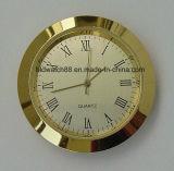 Часы выдвиженческих сетноых-аналогов часов вставки металла кварца малых золотистые миниые