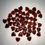 Corazón cristalino natural del Carnelian de la piedra preciosa semi