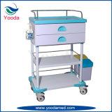 Carrello mobile di professione d'infermiera dell'ospedale dell'ABS con il cassetto di antecedenti