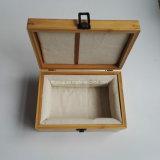 Rectángulo de madera barato caliente del vino de la buena calidad de la venta con la maneta