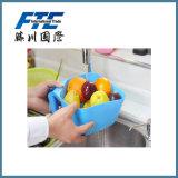 Panier en plastique de lavage coloré de fruit de qualité pour l'entrepôt