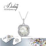 Cristal de la joyería del destino del colgante y de los pendientes determinados de la perla de Swarovski