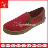 Ботинки резиновый отдыха женщин ботинок холстины Slip-on вскользь