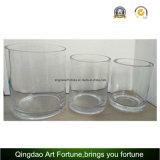 De Vaas van het Glas van de cilinder met Verschillende Grootte