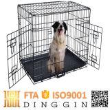 Grande gaiola de aço para o cão