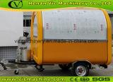 Carrello mobile esterno dell'alimento di colore giallo caldo di vendita 2017