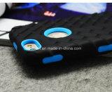携帯電話iPhone 5のSamsung S6 S7カバーの6ケースのためのアクセサリPC+のシリコーンのタイヤの携帯電話の装甲箱