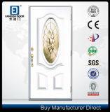 Weiße hölzerne Entwurfs-Fiberglas-Tür
