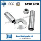 Pieza de torneado del CNC del aluminio para Rod ligero
