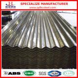 Hoja galvanizada sumergida caliente del hierro acanalado