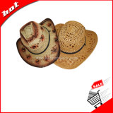 Sombrero de vaquero, sombrero de paja, sombrero de papel trenzado, de vaquero sombrero de papel