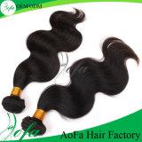 Form-lose Wellen-unverarbeitete Jungfrau-brasilianisches Keratin-Haar