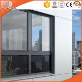 黒いカラーアルミニウム開き窓のWindows、オーストラリアの建物の標準の開き窓のWindowsのマッチに塗る粉