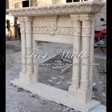 Camino di pietra di marmo Mfp-761 dell'indicatore luminoso dell'oro del deserto del camino del granito