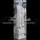 Het hand-gesneden Standbeeld Maagdelijke Mary Ms-1009 van Metrix Carrara van het Graniet van de Steen van het Beeldhouwwerk Marmeren