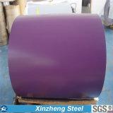 Bobine en acier enduite d'une première couche de peinture de PPGI/PPGL pour la feuille de toiture