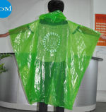 Poncho en plastique de pluie de PE