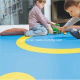 Plancher commercial de PVC d'utilisation d'intérieur colorée multicolore de bonne qualité de vinyle