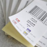 Barcode Stickets Attached Back Hangtag pour étiquettes de vêtement