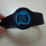 Wristband de borracha esperto do silicone da energia RFID do elastómetro