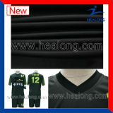 Calcio personalizzato verde di sublimazione completa e nero reale di disegno fissato (gioco del calcio fissato)