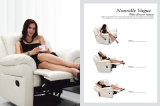 居間の家具のリクライニングチェアの柔らかい革ソファー(801)