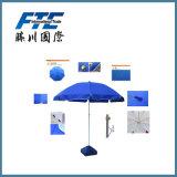 Prix bon marché de vente chaude annonçant le parapluie de plage extérieur