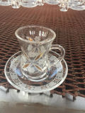 فنجان واضحة زجاجيّة لأنّ يشرب [تا كب] [كفّ موغ] [كب-جه06079]