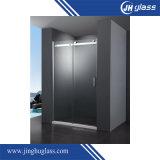 8mm de ácido plano e vidro geado para porta de chuveiro