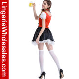 Sexy Oktoberfesr Lace der Frauen herauf Beer Girl Fancy Cosplay Dress Costume