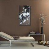 連続した馬--油絵の新しいデザイン