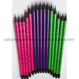 원형 검정 나무 연필