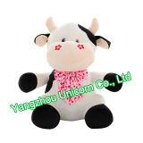 A cor-de-rosa macia do bordado do animal enchido do CE Stars o brinquedo do luxuoso da vaca