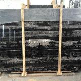 Естественный черный серебряный сляб мрамора дракона/черный мрамор с плитками пола /Black белой вены мраморный