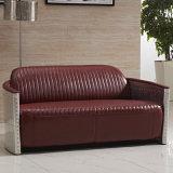 Retro Aliminum ledernes Sofa für Hotel-Möbel