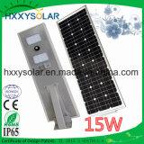 Аттестованное ISO солнечное изготовление уличного света 15W с 3 летами гарантированности