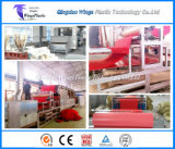 Couvre-tapis rouge de PVC faisant la machine/chaîne de production en plastique pelucheuse de roulement de couvre-tapis