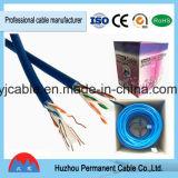 Le câble de cavalier nu du câble LAN De l'en cuivre UTP de haute performance CAT6 avec le RJ45 D'or-A plaqué le connecteur