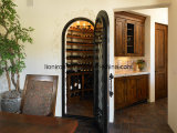 Style de cave à vin Style Design de porte simple en fer pour maison