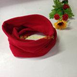 Usine rose principale d'écharpes d'ouatine de polyester de broderie de Rose
