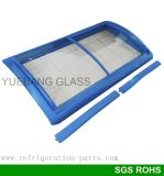Изогнутая стеклянная дверь для замораживателя комода, дверь стекла замораживателя