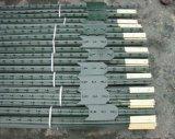 Spade/T 바 포스트를 가진 1.33lb 녹색 그려진 장식용 목을 박은 T 포스트