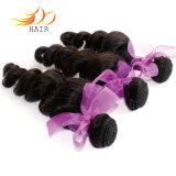 自然な人間の毛髪の編む高品質のカンボジアのバージンの毛のよこ糸