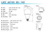 cubierta del bulbo de 12W A80 LED (fuente SKD)