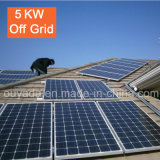 Домашняя польза с электрической системы 5kw решетки солнечной